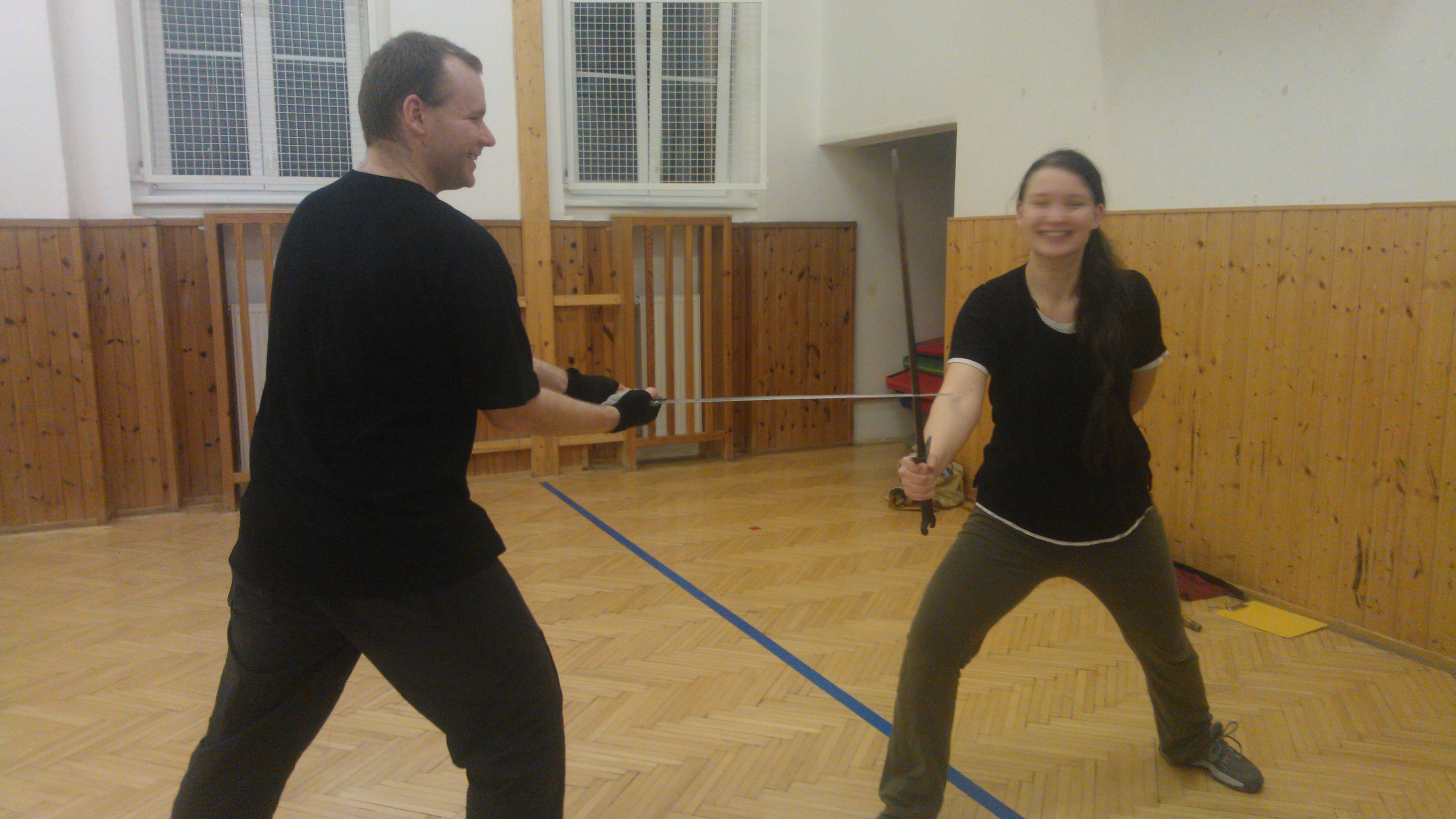 Jirka aMirjam na tréninku :-)